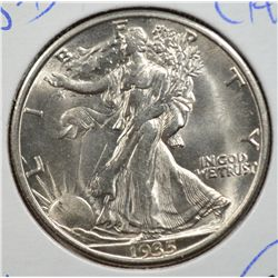 1935-D WALKING LIBERTY HALF DOLLAR MS65 GEM! SUPER!