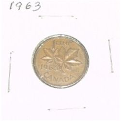 1963 CANADIAN 1 CENT PENNY *PLEASE LOOK AT PICTURE TO DETERMINE GRADE*!!
