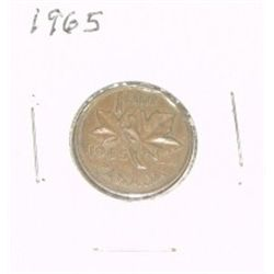 1965 CANADIAN 1 CENT PENNY *PLEASE LOOK AT PICTURE TO DETERMINE GRADE*!!