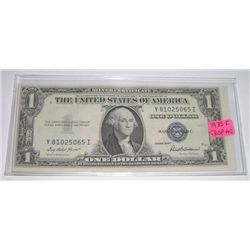 1935 SERIES F $1 SILVER CERTIFICATE BILL SERIAL # Y81025065I *EXTREMELY RARE CRISP AU HIGH GRADE*!