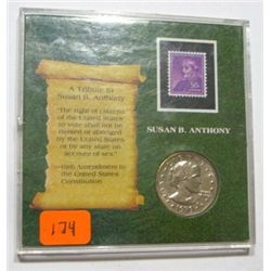 1979 SUSAN B. ANTHONY STAMP & COIN SET *UNC GRADE* COIN CAME OUT OF SAFE DEPOSIT BOX!!