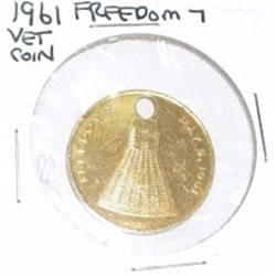 1961 FREEDOM 7 *VET COIN* HOLED!!