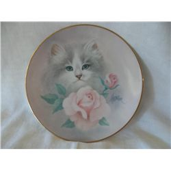 BLUSHING BEAUTIES, PETALS AND PURRS PLATE COLLECTION BY BOB HARRISON