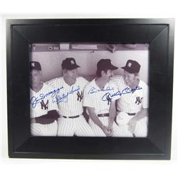 DIMAGGIO, FORD, MARTIN & MANTLE AUTOGRAPHED PICTURE W/ YMC SPORTS COA