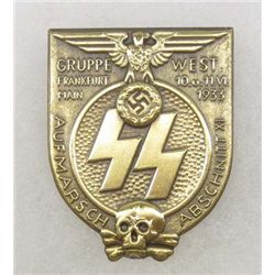 GERMAN NAZI WAFFEN SS FRANKFURT RALLY BADGE