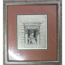 WILLIAM LESHER FRAMED DRAWING