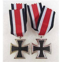 LOT OF 2 GERMAN  NAZI 2ND CLASS IRON CROSSES