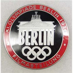 GERMAN NAZI ENAMELED BERLIN OLYMPICS FILM MAKERS BADGE