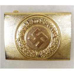 GERMAN NAZI WATER POLICE EM BELT BUCKLE