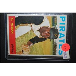 1964 MLB Al McBean Pittsburgh Pirates Baseball Trading Card; EST. $5-10