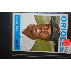 1964 MLB Joe Gaines Baltimore Orioles Baseball Trading Card; EST. $5-10