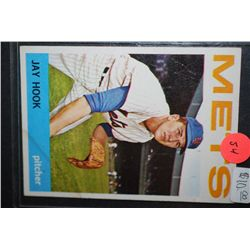 1964 MLB Jay Hook New York Mets Baseball Trading Card; EST. $5-10