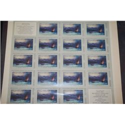 1974 CCCP/USSR Postal Stamp Sheet; Lot of 21 Stamps; EST. $10-15