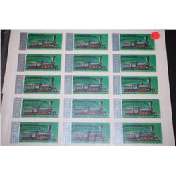 1978 CCCP/USSR Postal Stamp Sheet; Lot of 15 Stamps; EST. $10-15