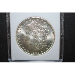 1902-O US Silver Morgan $1; MCPCG Graded MS62; EST. $50-70