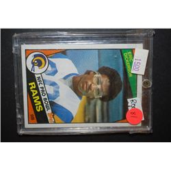 1984 NFL Eric Dickerson Los Angeles Rams Football Trading Card In Display Case; EST. $5-10