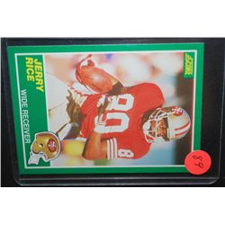 1988 NFL Jerry Rice San Francisco 49ers Football Trading Card; EST. $5-10