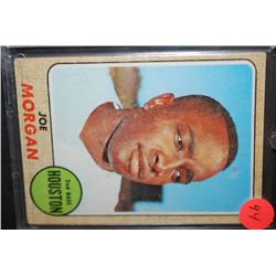 1968 MLB Joe Morgan Houston Astros Baseball Trading Card In Display Case; EST. $5-10