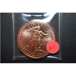 "2011 Copper Round ""St. Gaudens Type""; .999 Fine Copper 1 Oz.; EST. $5-10"