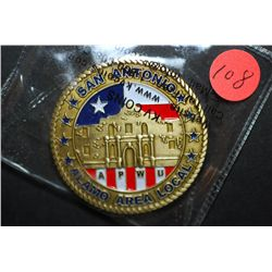 US Mail We Deliver San Antonio Alamo Area Local Advertising Coin; EST. $5-10