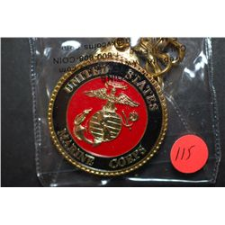 United States Marine Corps. Military Challenge Coin Key Chain; The Few. The Proud. Semper Fidelis; E