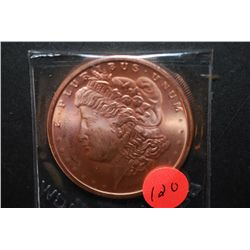 "2011 Copper Round ""Silver Morgan Type""; .999 Fine Copper 1 Oz.; EST. $5-10"