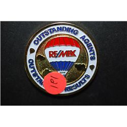 Jason W Bridgman Remax Realtors Accomplishment Coin; Outstanding Agents Outstanding Results; EST. $5