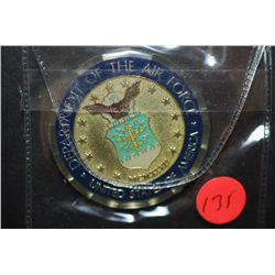 Department Of The Air Force United States Of America Military Challenge Coin; Cross Into The Blue US