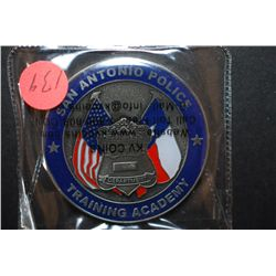 San Antonio Police Department Training Academy Challenge Coin; EST. $5-10