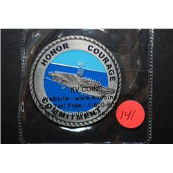 Department Of The Navy United States Of America Military Challenge Coin; Honor Courage Commitment; E