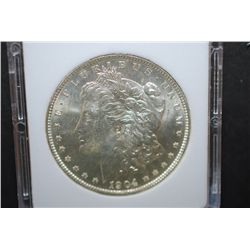 1904-O US Silver Morgan $1; MCPCG Graded MS61; EST. $50-70