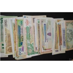 Foreign Bank Notes; Various Dates, Conditions & Denominations; Lot of 50; EST. $80-125