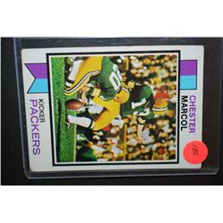 1973 NFL Chester Marcol Green Bay Packers Football Trading Card; EST. $5-10