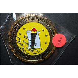 Universal Support 37th Mission Support Squadron Military Challenge Coin Presented By The Commander;