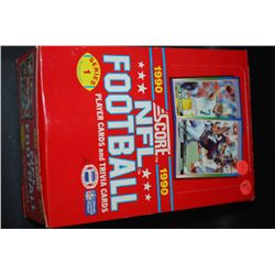 1990 NFL Football Trading Cards; Various Teams & Players; Lot of 36 Unopened Packs With 15 Cards & 1