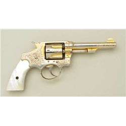 "Manuel Escodin Spanish copy of a Smith &  Wesson hand ejector DA revolver, .32 long  cal., 4"" barrel"