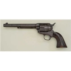 "XIT Ranch Texas associated Colt single action  army revolver .45 cal, 7-1/2"" barrel, brown  patina f"