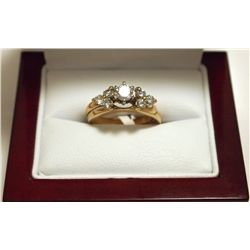 Dead Pawn Non-Native Diamond 14k Gold Women's Complementary Ring Set