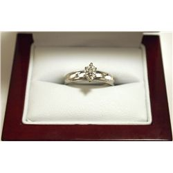 Dead Pawn Non-Native Diamond 10k White Gold Women's Ring - AM
