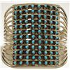 Zuni Turquoise Dots 12-Row Sterling Silver Cuff Bracelet - Susie Livingston