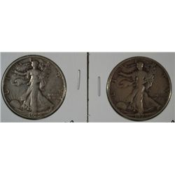 1929-D & S WALKING LIBERTY HALVES XF