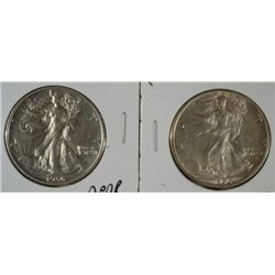 1936-D & S WALKING LIBERTY HALVES AU/UNC