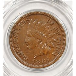 1885 INDIAN ONE CENT XF-AU NICE