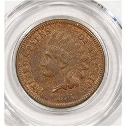 1876 INDIAN ONE CENT AU NICE