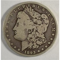 1893-CC MORGAN DOLLAR VG-F
