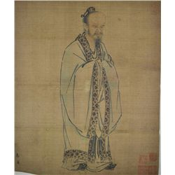 Chinese Watercolour Painting on Silk Ma Won