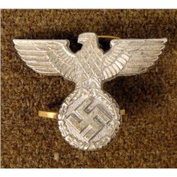 RARE EARLY NAZI COFFEE CAN HAT EAGLE INSIGNIA