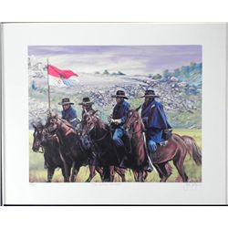 J Jones Signed and Numbered The Buffalo Soldier Print