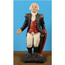 VINTAGE CAST IRON STATUE OF GEORGE WASHINGTON