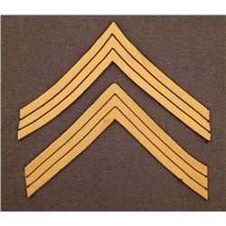 PAIR OF SPANISH-AMERICAN WAR SARGEANT'S STRIPE